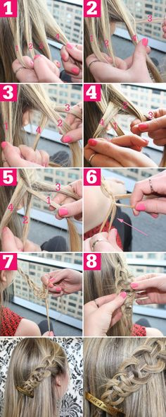 Four Strand Slide Up Braid Tutorial - Cool Easy Braided Styles - Seventeen