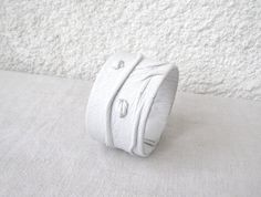 Snow White Leather Cuff by PrettyViolets on Etsy, $20.00