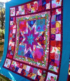 Star Jewels quilt pattern by Chasing Cottons, made with Kaffe Fasset and Anna Maria Horner fabrics