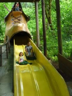 Mother Hubbards shoe slide @ quirky, lovable Enchanted Forest Theme Park in Salem OR.