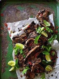 Adam Liaw's lamb chops with chilli, garlic & lime