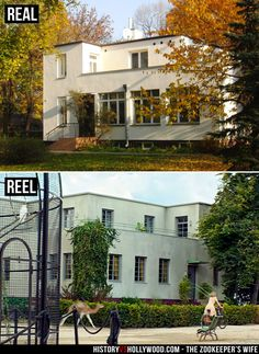 The Warsaw Zoo villa where The Zookeeper's Wife and her family lived at the time of WWII. Meet the real family: http://www.historyvshollywood.com/reelfaces/zookeepers-wife/
