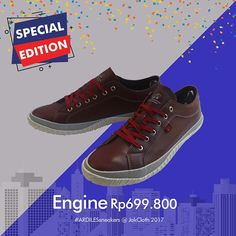 Mau sneakers kekinian yang beda dari yang lain? Ada sneakers special edition dari ARDILES. Yang pasti desainnya lebih keren. Cuma ada di Jakcloth 6-10 Desember 2017 @Gambir Expo! Buruan siapin dompetmu. #jakcloth #desember #goforit #specialedition #endyearsale #sale #liburan #spesial #keluarga #ardiles #sneakers #keren #awet #promo #murah #belanja #fashion #urban #tren #gaul #jakarta #bogor #depok #tangerang #bekasi #eventjakarta #festival #senayan #clothing #indonesia