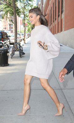 Comment porter la robe pull ? : Avec des escarpins