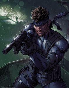 Metal Gear Solid 2 Solid Snake by tylercairnsart.deviantart.com on @DeviantArt