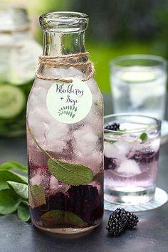 Blackberry & Sage Water (Blackberry, Mango, & Pineapple Water is yummy!)