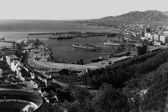 La malagueta desde Gibralfaro 1940.