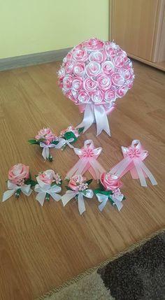 - Decoration World Ribbon Bouquet, Satin Ribbon Flowers, Diy Ribbon, Felt Flowers, Fabric Flowers, Boquet, Sparkle Wedding Cakes, Big Wedding Cakes, Wedding Art