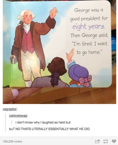 I like to think George went home to his plantation for cookies and milk, but that might be TOO simplistic...
