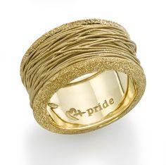 18k Yellow Gold String Ring