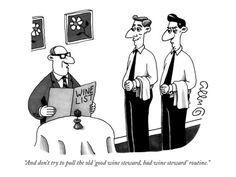New Yorker Magazine Wine Cartoon.