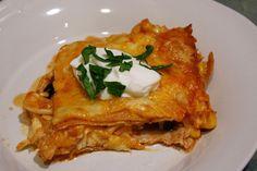 Skinny Chicken Enchilada Casserole-
