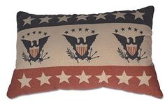 Bethany Lowe Eagle and Stars Throw Pillow