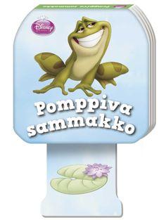 Kun kirjassa seikkailee säpäkkä Pomppiva sammakko, otus ei pompi pelkästään kirjan sivuilla, vaan saa koko opuksen hyppimään! Pikkuisten käteen sopivan kartonkikirjan alareunassa on pahvijalka, joka uppoaa kirjan sisälle, kun lapsi painaa kirjan alustaa vasten. Otteen irrotessa kirja pompahtaa ilmaan ja herättää takuulla riemua ja ihmetystä! Smurfs, Disney, Fictional Characters, Fantasy Characters, Disney Art