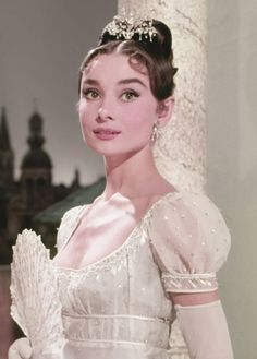 """Audrey Hepburn photographed for """"War and Peace"""", 1956"""