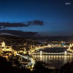 Budapest Hungary, Paris Skyline, Travel Photography, Castle, Europe, River, Night, Digital, City