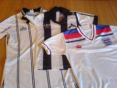 Classic Notts County shirts - oh, and a decent England one, too..