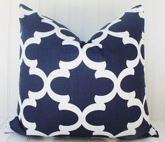 Navy Blue Pillow Covers.Navy Throw Pillow by MariaClaireInteriors