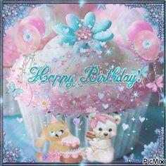 Happy Birthday pink cupcake teddy bear birthday happy birthday birthday greeting birthday wishes animated birthday Happy Birthday Dear Friend, Happy Birthday Greetings, Birthday Greeting Cards, Birthday Wishes, Thank You Gifs, Teddy Bear Birthday, Pink Cupcakes, Tatty Teddy, Pretty Flowers