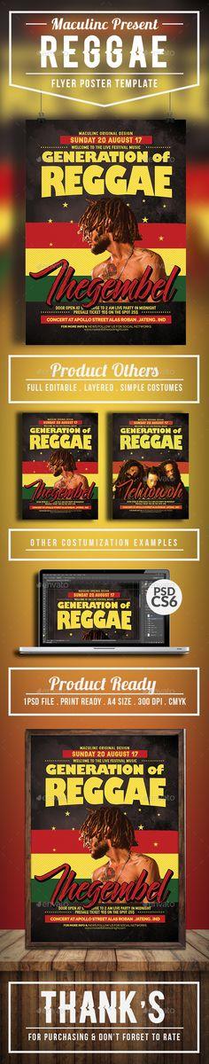 Reggae Roots Flyer/Poster Vol.4