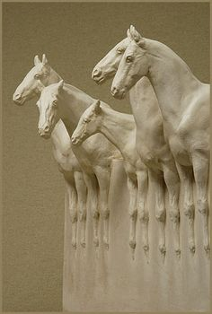 'Magic of Horses' (2011) by English sculptor and artist Susan Leyland (b.1952). via equine sculptures
