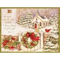 Peaceful Friends Wreath Personalized Christmas Cards | Susan ...