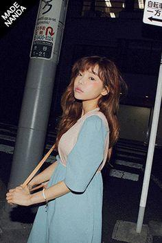 summer sweet>> Stylenanda Bi-Colored See-Through Long Dress
