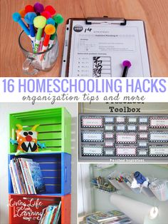 Stay on top of the school work with these homeschool hacks and organization tips to keep you sane. #homeschool #homeschooling