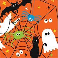 Halloween Nuttede Spøgelse servietterne til Halloween temafest.