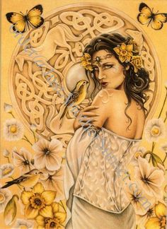 "Rhiannon was one of the Celtic Mythology`s most beloved goddesses, with a name meaning ""Queen,"" and she was recognized as the goddess of the moon, inspiration, songbirds, and horses. Description from pinterest.com. I searched for this on bing.com/images"