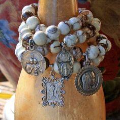 Vintage Australian Opal Bracelets Etsy forgivingworks by Digirrl Beaded Jewelry, Jewelry Bracelets, Handmade Jewelry, Bangles, Found Object Jewelry, Catholic Jewelry, Sea Glass Jewelry, Turquoise Jewelry, Jewelery