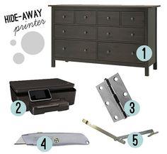 Diy Printer Stand Home Office Ideas Pinterest