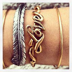My Alex and Ani bracelets