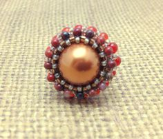 Copper Red and Gold Adjustable Cocktail Ring by RestlessArtMpls, $15.00