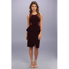 BCBGMAXAZRIA - Whitley Sleeveless Peplum Dress (Deep Port) - Apparel - product - Product Review