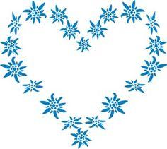 edlewiess floral tattoos | Pochoir Paris Coeur Edelweiss The Stencil Store