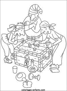 Les coloriages de pirates Pirate Coloring Pages, Shark Coloring Pages, Mickey Mouse Coloring Pages, Paw Patrol Coloring Pages, Coloring Book Pages, Preschool Pirate Theme, Pirate Activities, Pirate Games, Sea Pirates