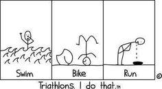 Triathlon... ok this is so me! Hahaha.