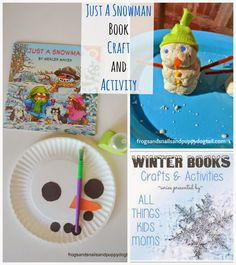(FSPDT): Just a Snowman: Winter Books Crafts and Activities. Looking to keep the kids busy inside pin this post for later or read more here~ http://www.frogsandsnailsandpuppydogtail.com/2014/01/just-snowman-winter-books-crafts-and.html #kidactivites #childrensbooks