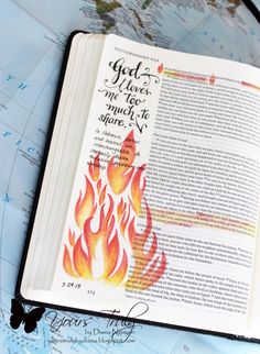 Diana Nguyen, illustrated faith, Bible Journaling, Consuming fire