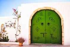 Green gate in Jerba - Tunisia