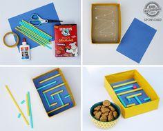 4 juegos infantiles caseros, fáciles y divertidos Juegos infantiles caseros. Cómo hacer un futbolín de cartón, un laberinto de canicas, un boliche y un juego de soplar la pelota.