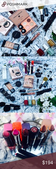 ULTIMATE 40 PC MAKEUP BEAUTY BUNDLE 💅🏻💄💋 40 item high-end beauty bundle with the hottest products of 2016! See photo 4 for a list 😍 Includes Kylie Cosmetics, Smashbox, Anastasia Beverly Hills, Makeup Forever, IT Cosmetics, Benefit, Becca, Bare Minerals, Clinique, Essie, Urban Decay & more! 36 items pictured & listed, 4 bonus items are a surprise! 🛍 This beauty haul is an amazing deal & you can resell items you don't need for profit or use for holiday gifts. All items are either new OR…