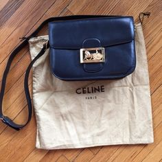 7d2142f17f Vintage dark navy Celine Box shoulder bag Vintage Celine in excellent  condition. Measures 9 1