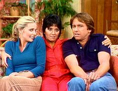 of misunderstandings and slapstick! This show was the backbone of my childhood evening TV scheduele Top Tv Shows, Movies And Tv Shows, Beatles, Chrissy Snow, Priscilla Barnes, John Ritter, Three's Company, Batman, Old Tv
