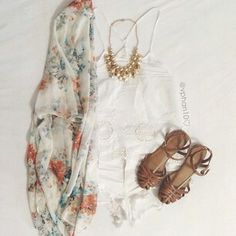White and floral.
