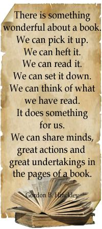 The beauty of books...