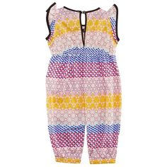 Dress your baby girl up in this adorable multi patterned babygrow by No Added Sugar, ideal for day trips out during the warmer per