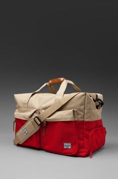 Herschel Supply Co. Walton Duffle Bag en Red/Khaki