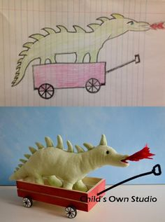 This is ABSOLUTELY AMAZING!! Turning Kids' Drawings Into Plush Toys www.childsown.com